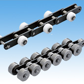 Double Pitch Chain with Outboard Rollers